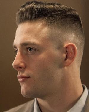 мужская причёска современный бизнесмен под бокс