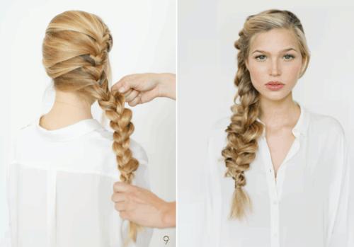 романтичная коса на бок
