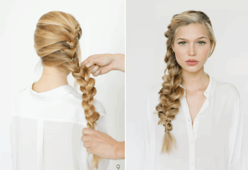 французская боковая коса