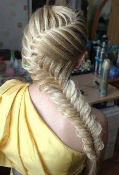 хвост наоборот на длинные волосы