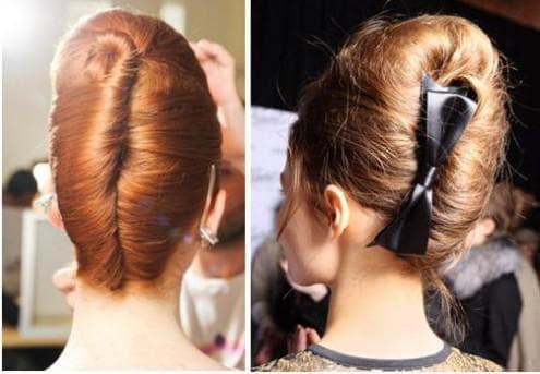 прическа улитка на средние волосы
