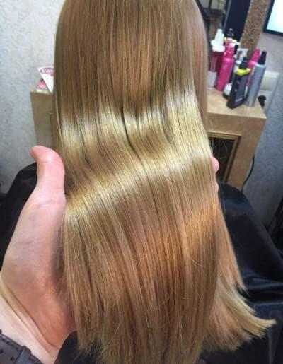 зигзаговое мраморное окрашивание волос