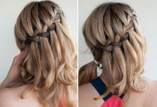 коса на средние волосы