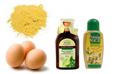 касторка, яйцо и витамины