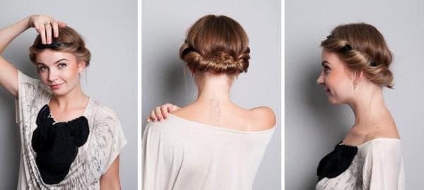 повседневная греческая прическа на короткие волосы