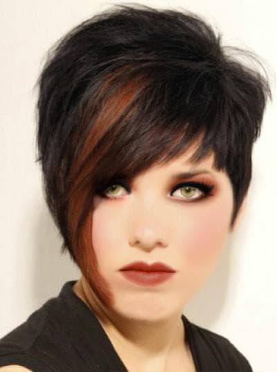 Стрижка асимметрия на короткие волосы