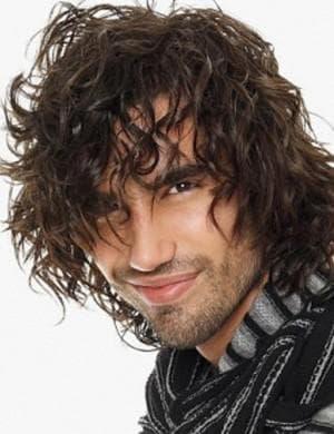 укладка длинных кудрявых волос у мужчин
