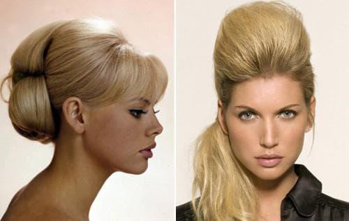 повседневная прическа с начёсом на средние волосы