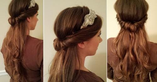 греческая прическа с хвостом на длинные волосы