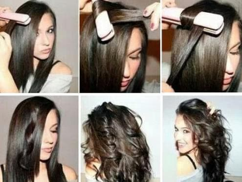 как накрутить волосы средней длины утюжком