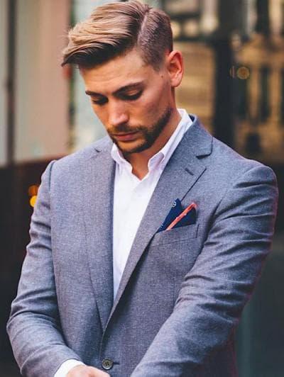 мужская стрижка андеркат с чёлкой