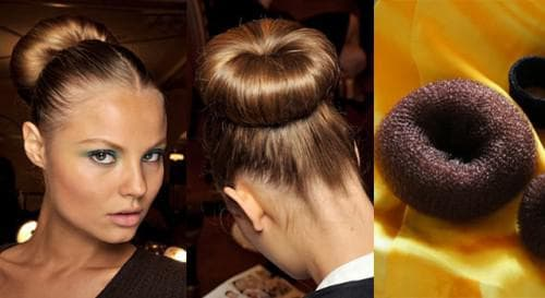 пучок для волос с валиком для волос