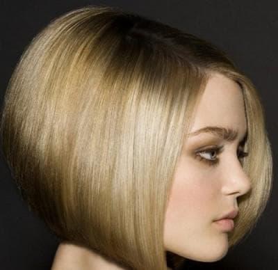 боб каре на короткие волосы с резким срезом