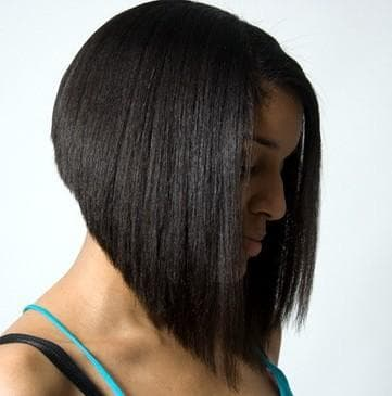 острый боб каре на короткие волосы