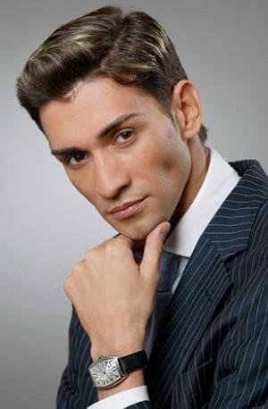 классический стил мужской причёски