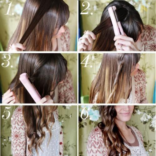 Как накрутить волосы выпрямителем для волос