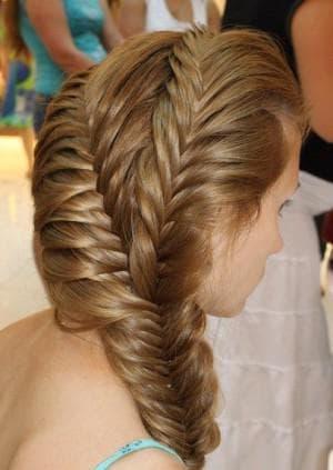 хвост на выворот на длинные волосы