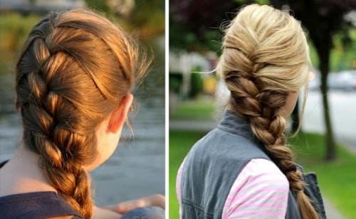 французская коса боковой жгут
