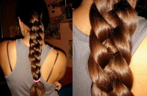 французская коса четыре пряди