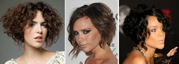 кудрявые волосы и асимметрия
