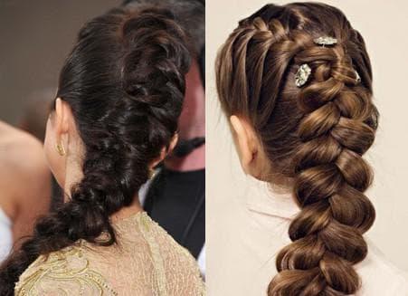 голландская коса на средние волосы