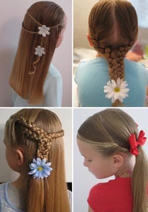 детские повседневные прически на средние волосы