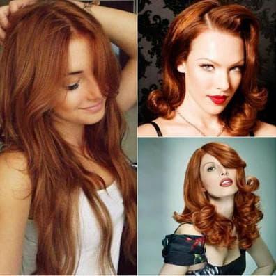 медно рыжий цвет волос с русым оттенком