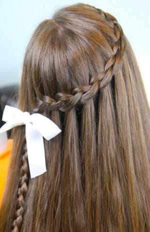 коса водопад для девочки