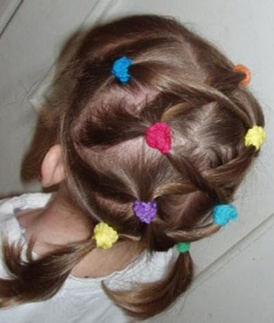 детские прически хвостик на короткие волосы