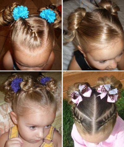 две косички на короткие волосы для девочки