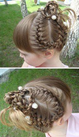 эльфийская косичка на короткие волосы для девочки