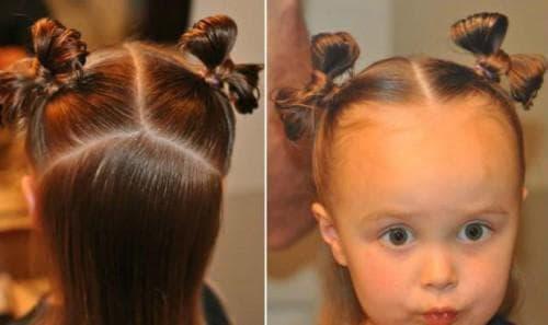 причёска бантик для маленькой девочки