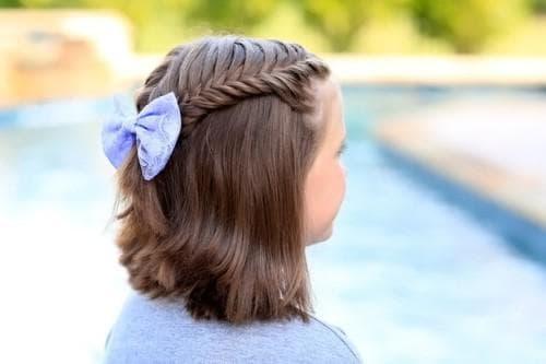 короткие волосы в школу