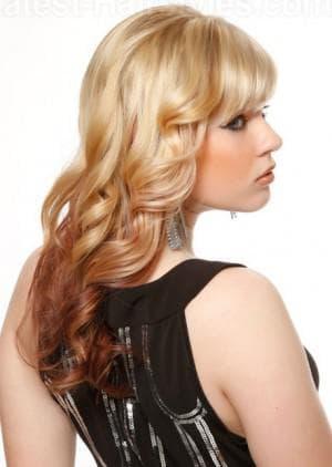 обратное омбре волос