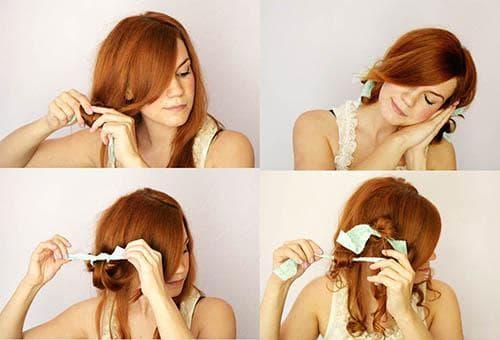 как правильно накрутить волосы тряпочкой
