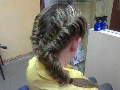 коса «Рыбий хвост» для девочки