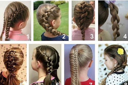 повседневная причёска детям