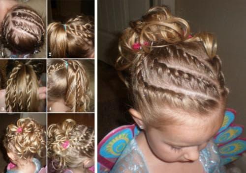 причёска дорожки для маленькой девочки