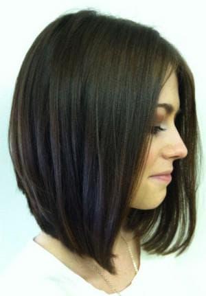 боб каре без чёлки на волосы средней длины