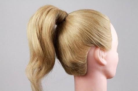 детский высокий хвост на средние волосы