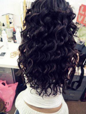 объемные локоны утюжком на длинные волосы