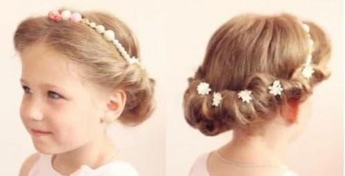 детская причёска в греческом стиле на средние волосы