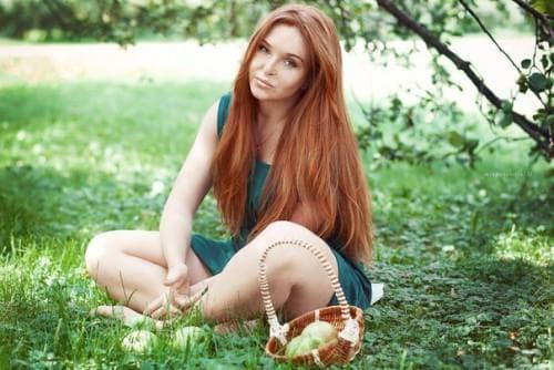 рыже-русый цвет волос