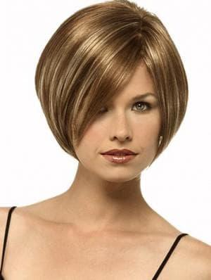 стрижка каскад для тонких волос для худого лица