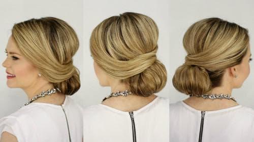 лёгкая красивая причёска низкий узел