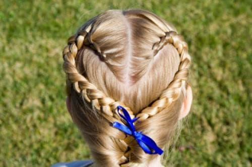 плетение сердечком для девочки