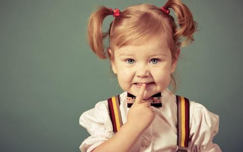 хвостики для маленькой девочки