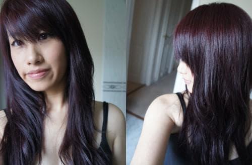 светло-коричневый с фиолетовым подтоном цвет волос