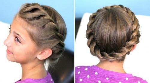 детские прически с косами на средние волосы