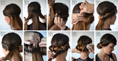 греческая причёска с лаком